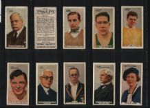 Cigarette cards Famous personalities, Churchill, Golf, Boxing,